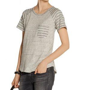 STANDARD JAMES PERSE Striped cotton-jersey T-shirt